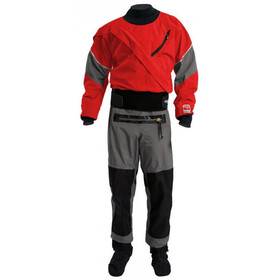 Kokatat M's Meridian Gore-Tex Drysuit with Relief Zipper & Socks Chili/Gray